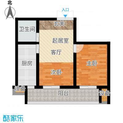 东兴公寓69.88㎡b面积6988m户型