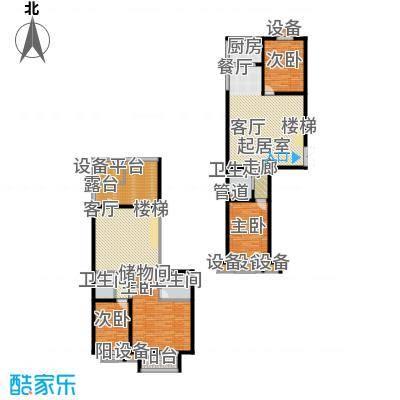 东兴公寓196.66㎡C越层下面积19666m户型
