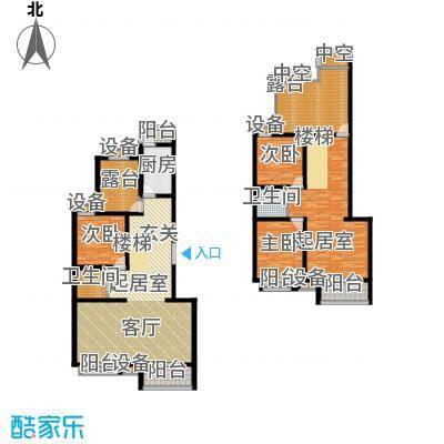 东兴公寓210.66㎡E反越层下面积21066m户型
