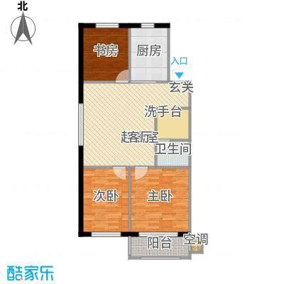 四季枫景82.11㎡4号楼A面积8211m户型