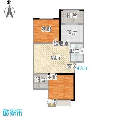 四季枫景84.03㎡20号楼H面积8403m户型