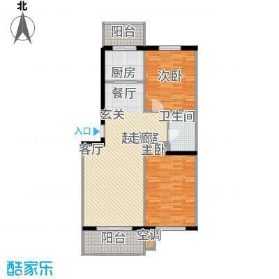 四季枫景89.50㎡6号楼C面积8950m户型