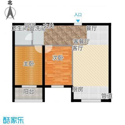 奥特锦鸿嘉苑2居室2户型