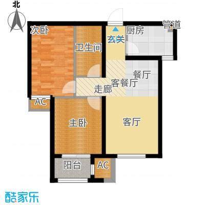 荣川沁园84.00㎡C-2面积8400m户型