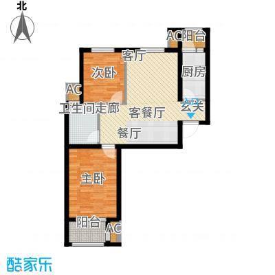荣川沁园87.66㎡C-1面积8766m户型