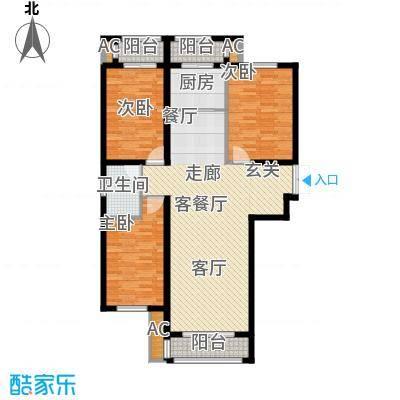 荣川沁园136.89㎡D-1面积13689m户型