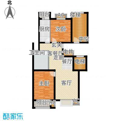 荣川沁园110.00㎡L面积11000m户型