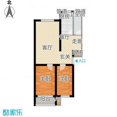 新野四季公寓72.13㎡D2面积7213m户型