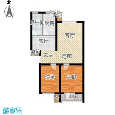 新野四季公寓78.77㎡B2面积7877m户型