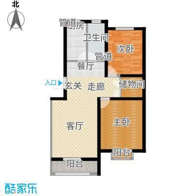 新野四季公寓88.91㎡A2面积8891m户型
