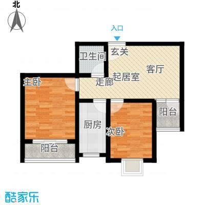 融鑫逸景80.28㎡2#3#楼E面积8028m户型