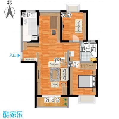 两室两厅南北通
