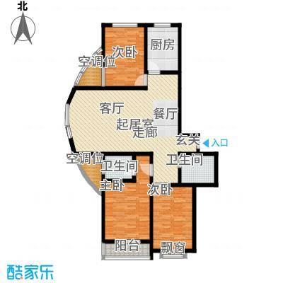 融鑫逸景135.40㎡2#3#楼B'3面积13540m户型