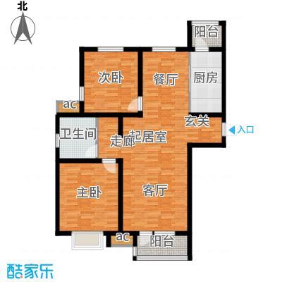 京港国际城99.42㎡高层标准层面积9942m户型