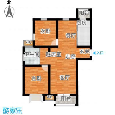 京港国际城88.00㎡高层标准层面积8800m户型