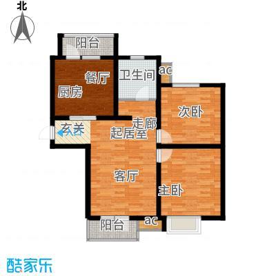 京港国际城89.00㎡高层标准层面积8900m户型