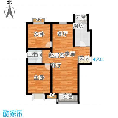 京港国际城100.00㎡高层标准层面积10000m户型