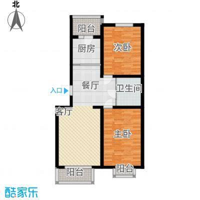东华温馨家园85.98㎡F2面积8598m户型