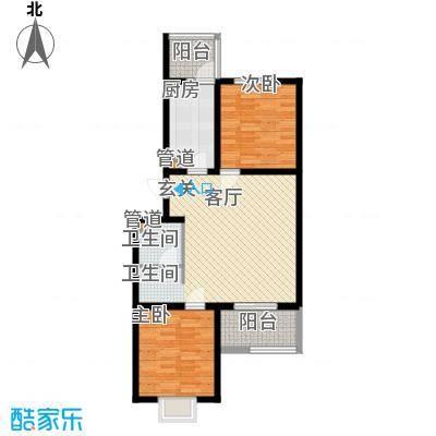 东华温馨家园83.34㎡D2面积8334m户型