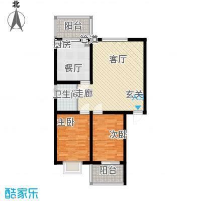 东华温馨家园78.14㎡K2面积7814m户型
