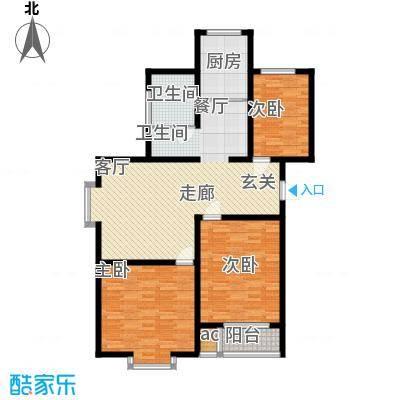 东华温馨家园108.85㎡L'面积10885m户型