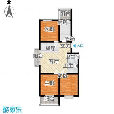 东华温馨家园98.54㎡E2面积9854m户型