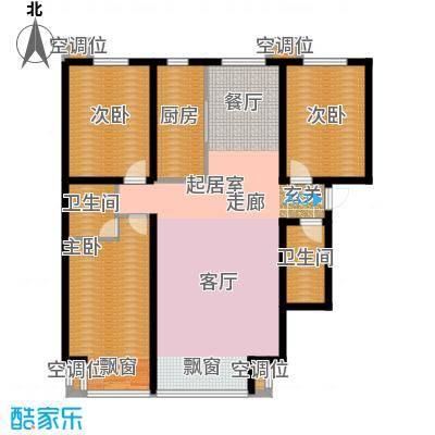 丰润帝景豪庭141.95㎡1号楼--B1户面积14195m户型