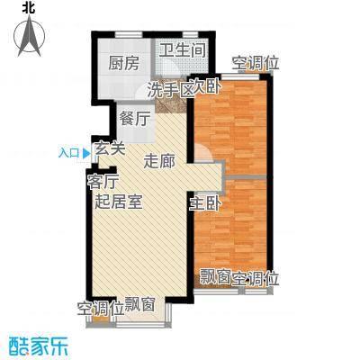 丰润帝景豪庭90.10㎡2号楼--A2户面积9010m户型