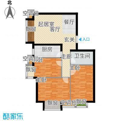 丰润帝景豪庭113.80㎡6号楼--A2户面积11380m户型
