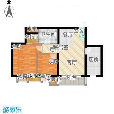丰润帝景豪庭85.04㎡1号楼--A3户面积8504m户型