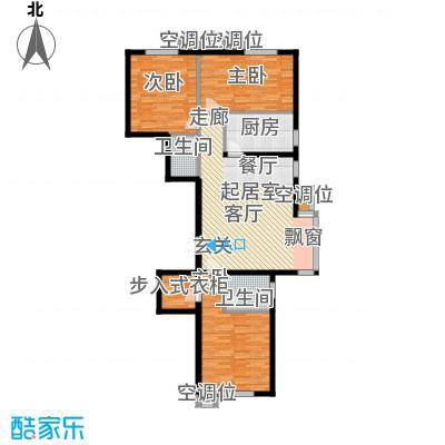 丰润帝景豪庭139.09㎡1号楼--B3户面积13909m户型