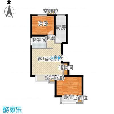 丰润帝景豪庭81.70㎡2号楼--A1户面积8170m户型