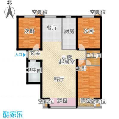 丰润帝景豪庭139.43㎡1号楼--A4户面积13943m户型