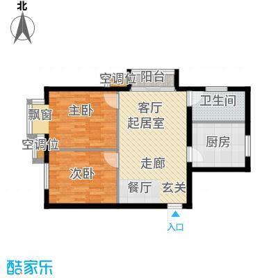 丰润帝景豪庭81.79㎡6号楼--A1户面积8179m户型