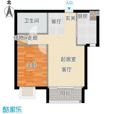 丰润帝景豪庭63.78㎡6号楼--A3户面积6378m户型