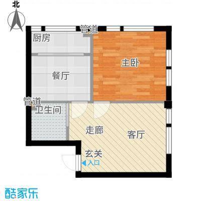 凤城阳光55.97㎡B71面积5597m户型