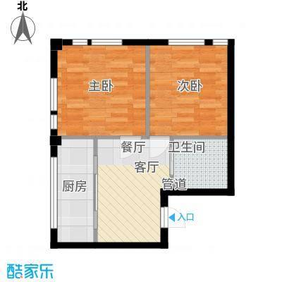 凤城阳光59.10㎡A71面积5910m户型