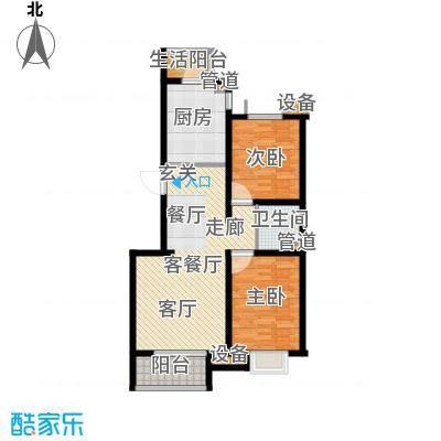 鼎旺国际社区88.94㎡4号楼B面积8894m户型