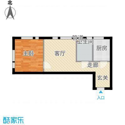 凤城阳光53.92㎡B61面积5392m户型