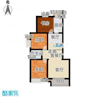 鼎旺国际社区122.85㎡4号楼J面积12285m户型