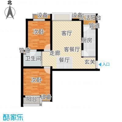 鼎旺国际社区88.28㎡4号楼F1面积8828m户型