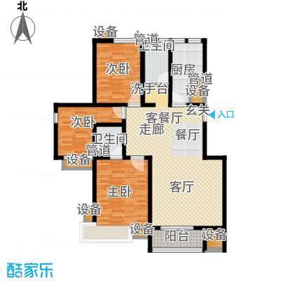 鼎旺国际社区129.98㎡D2面积12998m户型