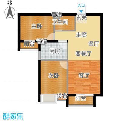 鼎旺国际社区88.10㎡4号楼F2面积8810m户型