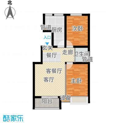 鼎旺国际社区88.37㎡E1面积8837m户型