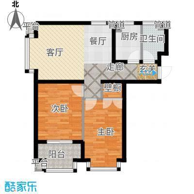 恒益翠芳庭88.65㎡107/108号楼A面积8865m户型