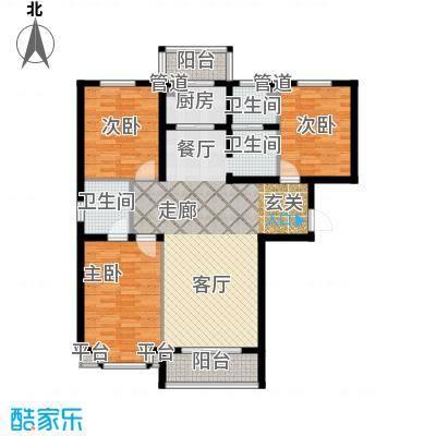 恒益翠芳庭134.55㎡103号楼J1面积13455m户型