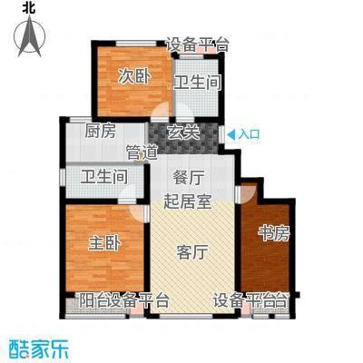 六合轩府132.86㎡3号楼标准层N户面积13286m户型