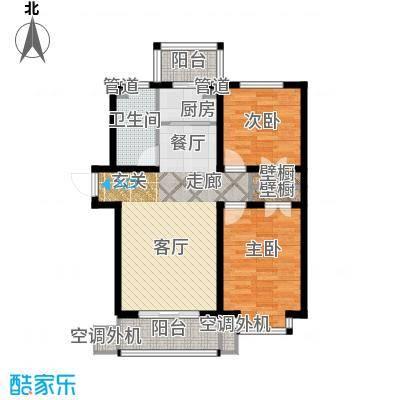 恒益翠芳庭91.10㎡107/108号楼C面积9110m户型