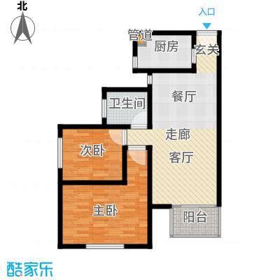 东港龙城76.28㎡E-c1面积7628m户型