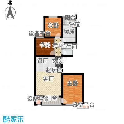 六合轩府117.00㎡2号楼标准层A户面积11700m户型